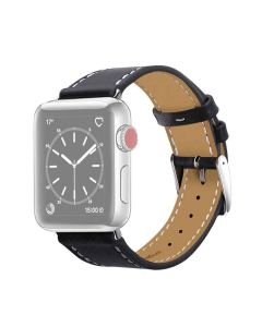 Genuine Leather 42 mm iWatch Strap (White Thread) - House Of Quirk