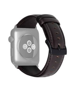 Genuine Leather Replacement Strap For iWatch (Coffee Brown) - House Of Quirk