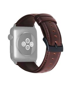 Leather 42 mm Vintage Strap For iWatch (Tan) - House Of Quirk