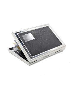 Stainless Steel Card Holder Wallet (Silver-Black) - House of Quirk