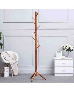 Solid Hard Wood Coat Rack With Hooks - House of Quirk