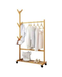 Single Rail Bamboo Garment Rack - House of Quirk