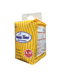 Adult Open Diaper (Large 38 - 54 inch) - Happy Time