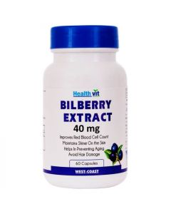 Bilberry Extract 40 mg (60 Capsules) - Healthvit