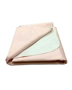 Re-Usable Brushed Polyester Underpads For Beds (Pink) - Kosmocare