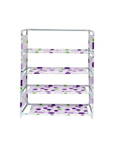 5 Layer Portable Folding Shoe Rack with wardrobe cover (Assorted colors) - Kawachi