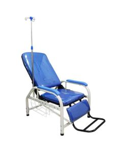 Foldable Hospital Blood Donor Chair With I.V. Drop Stand - Kawachi