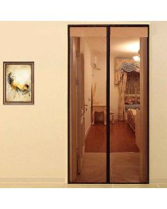 Mosquito Screen Door Mesh Curtain with Magnets (Brown) - Lifekrafts