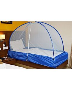 Cotton Foldable Mosquito Net with Bag for Single Bed (Assorted Color) - Lonik