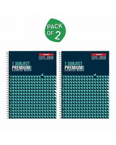 1-Subject Premium Single Ruled Spiral Exercise Book (160 Pages) Pack of 2 - Luxor
