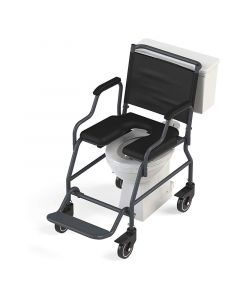 Heavy Duty Roll-Over Commode Wheelchair - Arcatron