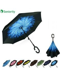 Premium Inverted Umbrella With C-Shaped Handle - Seniority