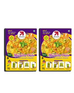 Masala Oats with Heater Bag - Veg (2 x 250 gm) - Move On