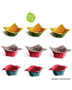 Microwaveable Hot Pot Holders (Pack of 3 - Small Medium and Large) (Assorted Color) - Aksobha