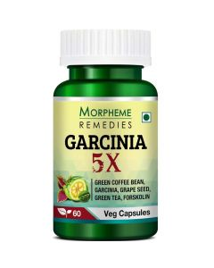 Garcinia 5X For Weight Management (60 Veg Capsules) - Morpheme Remedies