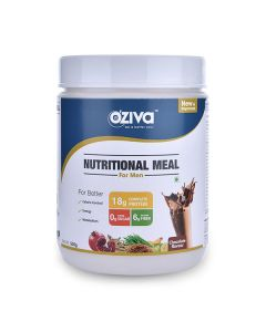 Nutritional Ayurvedic Meal Shake Powder for Men (Chocolate) - OZiva