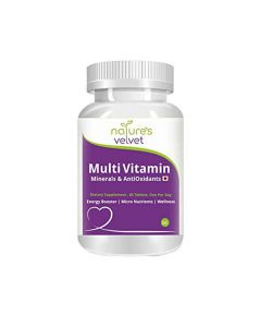 Natural Multivitamins Minerals and Antioxidants Capsules (60 Veg Capsules - Pack of 1) - Natures Velvet