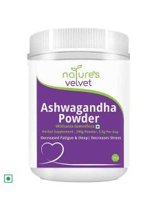 Ashwagandha Powder Withania Somnifera (250 gm - Pack of 1) - Natures Velvet