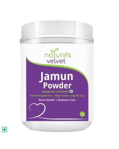 Jamun Powder Syzygium Cumminii (250 gm - Pack of 1) - Natures Velvet