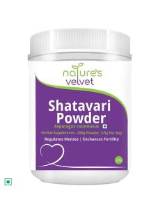 Shatavari Asparagus Racemosus Powder (250 gm - Pack of 1) - Natures Velvet