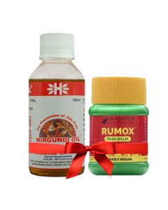 Pain Relief Combo Pack Rumox Balm  Nirgundi Joint Guard - Dr.Vaidyas