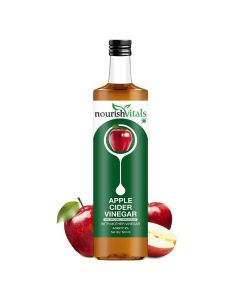Apple Cider Vinegar with Mother Vinegar - Raw, Unfiltered and Undiluted (500 ml) - Nourish Vitals