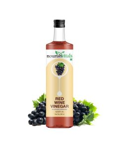 Red Wine Vinegar - Raw, Unfiltered and Undiluted (500 ml) - Nourish Vitals