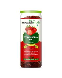 Strawberry Dried Fruit - Dehydrated Fruits (200 gm) - Nourish Vitals