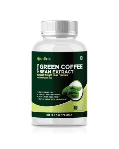 100% Natural Green Coffee Bean Extract with Weight Management Formula for Women and Men (60 Capsules) - Nutrafirst