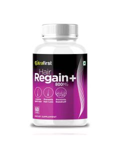Hair Regain Plus for Hair Regrowth for Men and Women (60 Capsules) - Nutrafirst