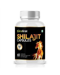 Pure Shilajit Extract for strength and Energy (60 Capsules) - Nutrafirst