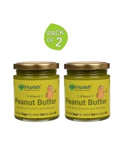 Peanut Butter With Whey Protein And Moringa (200 gm x Pack of 2) - Nutriwish