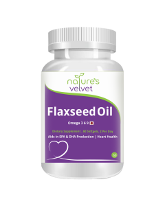Flax Seed Oil 1000mg Capsules (60 Softgels) - Natures Velvet