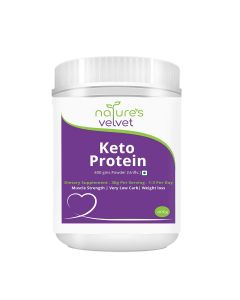 Keto Protein Powder (Unflavoured) 400 gm - Natures Velvet