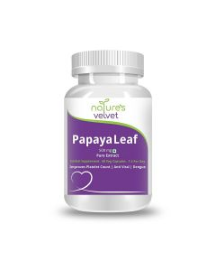 Papaya Leaf Extract 500 mg Capsules (60 Veg Capsules) - Natures Velvet