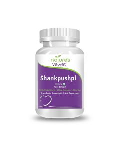 Shankpushpi Pure Extract 500 mg Capsules (60 Capsules) - Natures Velvet