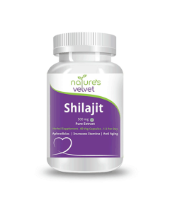 Shilajit Pure Extract 500 mg Capsules (60 Capsules) - Natures Velvet