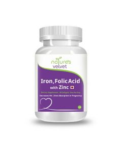 Iron and Folic Acid with Zinc for Supplementation in Pregnancy (60 Softgels) - Natures Velvet