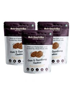 Oats and Cranberry Cookies (Pack of 3) - NutriSnacksBox
