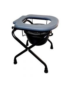 Foldable Commode Stool without Armrest (Oval Cut) S779A - Entros