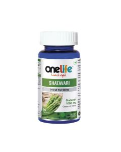 Shatavari Tablets (For Overall Well-Being) 60 Tablets - One Life