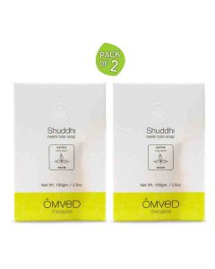 Shuddhi Neem Tulsi Essential Oil Soap (Pack of 2 - 100 gm each) - Omved