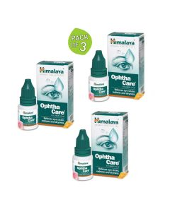 Ophthacare Eye Drops (Pack of 3 - 10 ml Each) - Himalaya