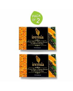 Orange Oil Ginger Oil Papaya Extract and Almond Oil Soap - 100 gm each (Pack of 2) - Iremia