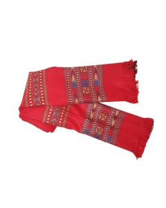 Embroidered Winter Shawl (Red) - Oswal