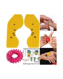 Magnetic and Acupressure Sole with Power Ball Thumb Su-Jok Ring and Reflexology Chart - Perfect Magnets