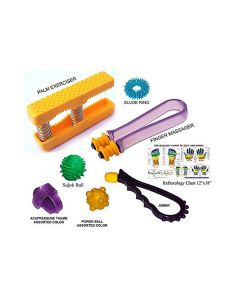 Hand Exerciser Combo With Reflexology Chart - Perfect Magnets