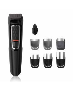 8-In -1 Hair Clipper & Face Multi-Grooming Trimmer Kit (MG3730/15 - Black) - Philips
