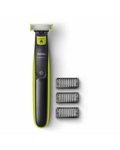 Oneblade Hybrid Trimmer and Shaver with 3 Trimming Combs (QP2525/10 - Lime Green) - Philips