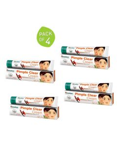 Pimple Clear Cream (Pack of 4 - 20 gm Each) - Himalaya